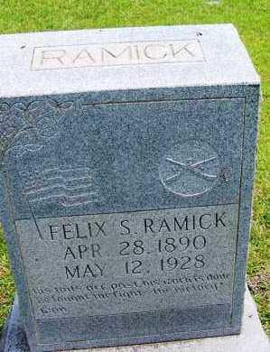 RAMICK (VETERAN), FELIX S - Grant County, Arkansas | FELIX S RAMICK (VETERAN) - Arkansas Gravestone Photos