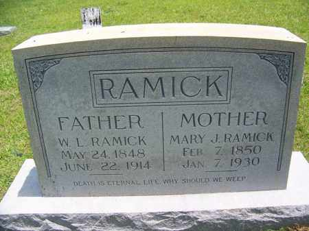 RAMICK, MARY J - Grant County, Arkansas | MARY J RAMICK - Arkansas Gravestone Photos