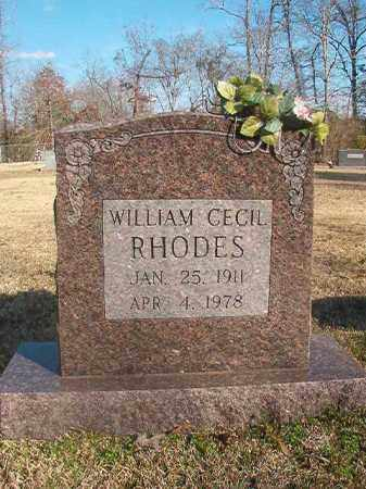 RHODES, WILLIAM CECIL - Grant County, Arkansas | WILLIAM CECIL RHODES - Arkansas Gravestone Photos