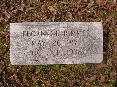 RIMMER, FLORENCE - Grant County, Arkansas | FLORENCE RIMMER - Arkansas Gravestone Photos