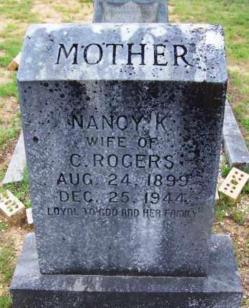 ROGERS, NANCY K - Grant County, Arkansas   NANCY K ROGERS - Arkansas Gravestone Photos