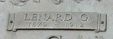 SANFORD, LENARD G. (CLOSEUP) - Grant County, Arkansas | LENARD G. (CLOSEUP) SANFORD - Arkansas Gravestone Photos