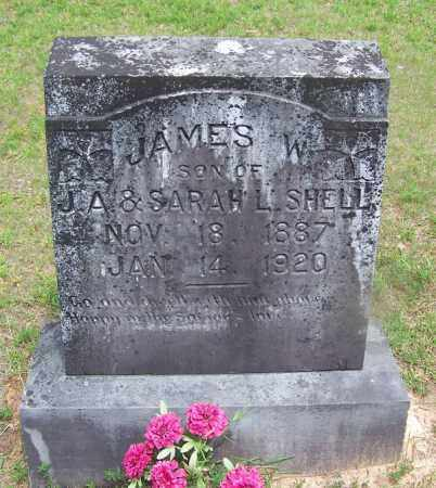 SHELL, JAMES W - Grant County, Arkansas | JAMES W SHELL - Arkansas Gravestone Photos