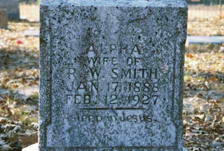 SMITH, ALPHA - Grant County, Arkansas | ALPHA SMITH - Arkansas Gravestone Photos