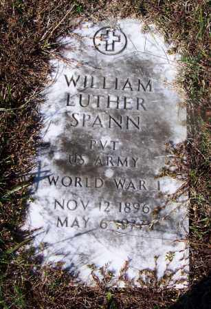 SPANN (VETERAN WWI), WILLIAM LUTHER - Grant County, Arkansas | WILLIAM LUTHER SPANN (VETERAN WWI) - Arkansas Gravestone Photos
