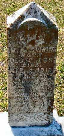 SWAIM, M A - Grant County, Arkansas | M A SWAIM - Arkansas Gravestone Photos