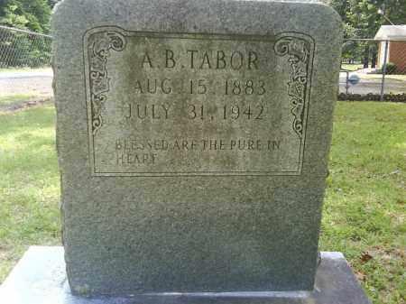TABOR, A. B. - Grant County, Arkansas | A. B. TABOR - Arkansas Gravestone Photos