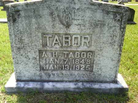 TABOR, A. H. - Grant County, Arkansas | A. H. TABOR - Arkansas Gravestone Photos