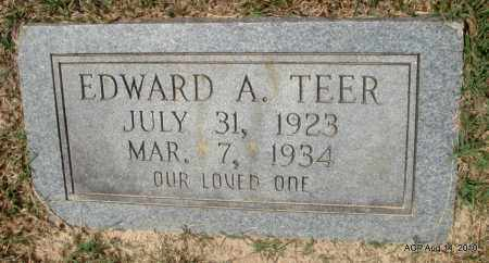TEER, EDWARD A - Grant County, Arkansas | EDWARD A TEER - Arkansas Gravestone Photos