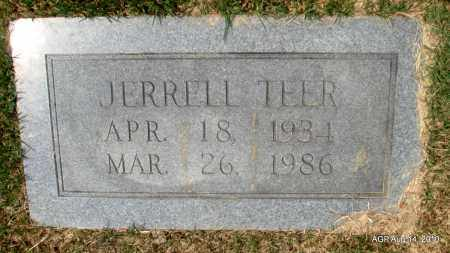 TEER, JERRELL - Grant County, Arkansas | JERRELL TEER - Arkansas Gravestone Photos