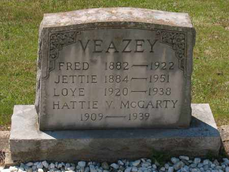 VEAZEY, SARAH JETTIE - Grant County, Arkansas | SARAH JETTIE VEAZEY - Arkansas Gravestone Photos