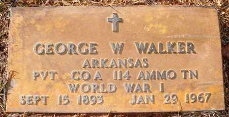 WALKER (VETERAN WWI), GEORGE W - Grant County, Arkansas | GEORGE W WALKER (VETERAN WWI) - Arkansas Gravestone Photos