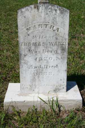 HODGE WARD, MARTHA - Grant County, Arkansas | MARTHA HODGE WARD - Arkansas Gravestone Photos