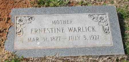 WILSON WARLICK, ERNESTINE - Grant County, Arkansas | ERNESTINE WILSON WARLICK - Arkansas Gravestone Photos