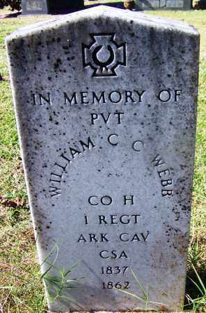 WEBB (VETERAN CSA), WILLIAM C C - Grant County, Arkansas | WILLIAM C C WEBB (VETERAN CSA) - Arkansas Gravestone Photos