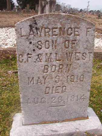 WEST, LAWRENCE F - Grant County, Arkansas | LAWRENCE F WEST - Arkansas Gravestone Photos