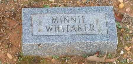 WHITAKER, MINNIE - Grant County, Arkansas | MINNIE WHITAKER - Arkansas Gravestone Photos