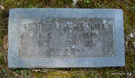 WILEY, BERTHA - Grant County, Arkansas | BERTHA WILEY - Arkansas Gravestone Photos