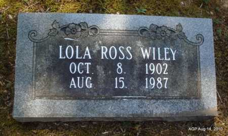 ROSS WILEY, LOLA - Grant County, Arkansas | LOLA ROSS WILEY - Arkansas Gravestone Photos
