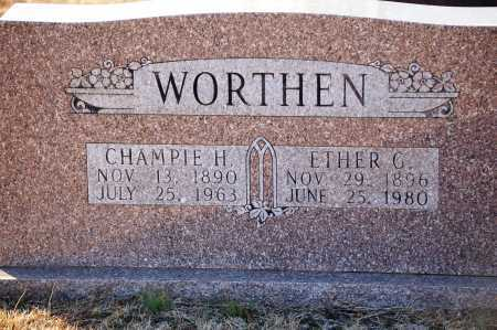 WORTHEN, CHAMPIE H - Grant County, Arkansas | CHAMPIE H WORTHEN - Arkansas Gravestone Photos