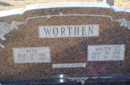 WORTHEN, WALTER D - Grant County, Arkansas | WALTER D WORTHEN - Arkansas Gravestone Photos