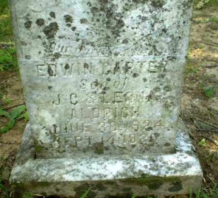 ALDRICH, EDWIN CARTER - Greene County, Arkansas   EDWIN CARTER ALDRICH - Arkansas Gravestone Photos