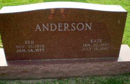 ANDERSON, KATE - Greene County, Arkansas | KATE ANDERSON - Arkansas Gravestone Photos