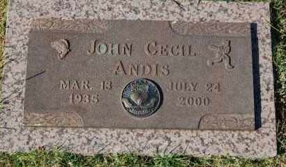 ANDIS, JOHN CECIL - Greene County, Arkansas | JOHN CECIL ANDIS - Arkansas Gravestone Photos