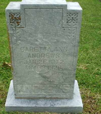 ANDREWS, CARETTA ANN - Greene County, Arkansas | CARETTA ANN ANDREWS - Arkansas Gravestone Photos