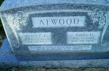 ATWOOD, JOHN H - Greene County, Arkansas | JOHN H ATWOOD - Arkansas Gravestone Photos