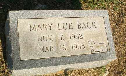 BACK, MARY LUE - Greene County, Arkansas | MARY LUE BACK - Arkansas Gravestone Photos