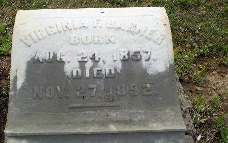 BAHNER, VIRGINIA F. - Greene County, Arkansas   VIRGINIA F. BAHNER - Arkansas Gravestone Photos