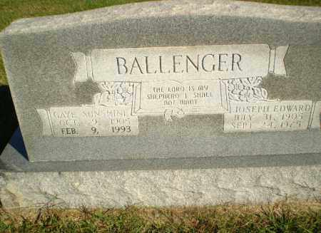 BALLENGER, JOSEPH EDWARD - Greene County, Arkansas | JOSEPH EDWARD BALLENGER - Arkansas Gravestone Photos