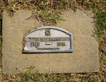 BARRY, ANDY - Greene County, Arkansas | ANDY BARRY - Arkansas Gravestone Photos