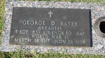BATEY (VETERAN WWII), GEORGE D - Greene County, Arkansas | GEORGE D BATEY (VETERAN WWII) - Arkansas Gravestone Photos