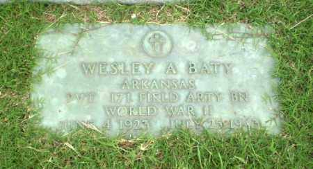 BATY  (VETERAN WWII), WESLEY A - Greene County, Arkansas | WESLEY A BATY  (VETERAN WWII) - Arkansas Gravestone Photos