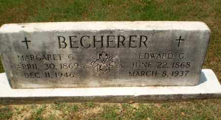BECHERER, EDWARD G - Greene County, Arkansas | EDWARD G BECHERER - Arkansas Gravestone Photos