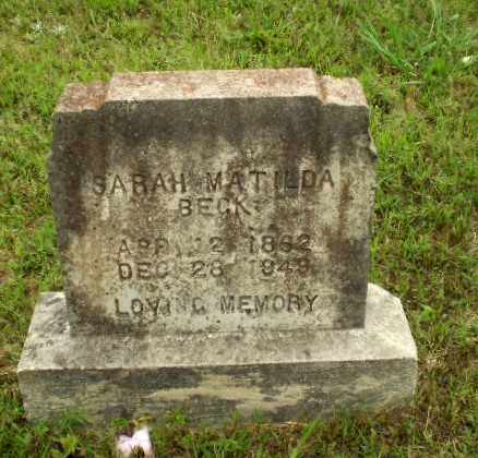 BECK, SARAH MATILDA - Greene County, Arkansas | SARAH MATILDA BECK - Arkansas Gravestone Photos
