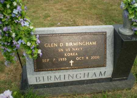 BIRMINGHAM  (VETERAN KOR), GLEN D - Greene County, Arkansas | GLEN D BIRMINGHAM  (VETERAN KOR) - Arkansas Gravestone Photos