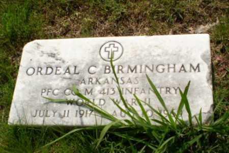 BIRMINGHAM  (VETERAN WWII), ORDEAL C - Greene County, Arkansas | ORDEAL C BIRMINGHAM  (VETERAN WWII) - Arkansas Gravestone Photos
