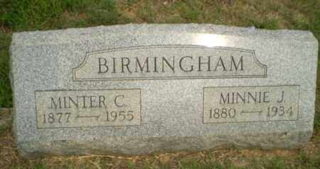 BIRMINGHAM, MINNIE J - Greene County, Arkansas | MINNIE J BIRMINGHAM - Arkansas Gravestone Photos