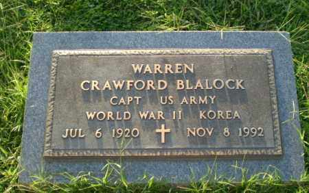BLALOCK  (VETERAN 2 WARS), WARREN CRAWFORD - Greene County, Arkansas | WARREN CRAWFORD BLALOCK  (VETERAN 2 WARS) - Arkansas Gravestone Photos