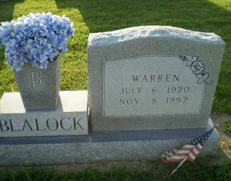 BLALOCK, WARREN - Greene County, Arkansas | WARREN BLALOCK - Arkansas Gravestone Photos