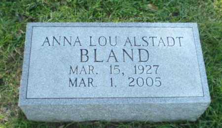ALSTADT BLAND, ANNA LOU - Greene County, Arkansas | ANNA LOU ALSTADT BLAND - Arkansas Gravestone Photos