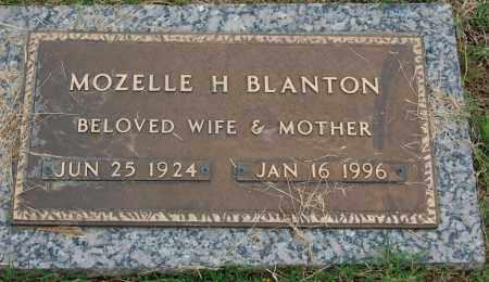 BLANTON, MOZELLE H. - Greene County, Arkansas | MOZELLE H. BLANTON - Arkansas Gravestone Photos