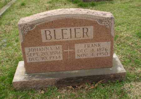 BLEIER, JOHANNA - Greene County, Arkansas | JOHANNA BLEIER - Arkansas Gravestone Photos