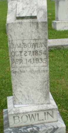 BOWLIN, J.M. - Greene County, Arkansas | J.M. BOWLIN - Arkansas Gravestone Photos