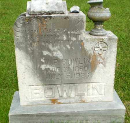 BOWLIN, W P - Greene County, Arkansas | W P BOWLIN - Arkansas Gravestone Photos