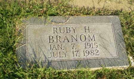BRANOM, RUBY H - Greene County, Arkansas | RUBY H BRANOM - Arkansas Gravestone Photos