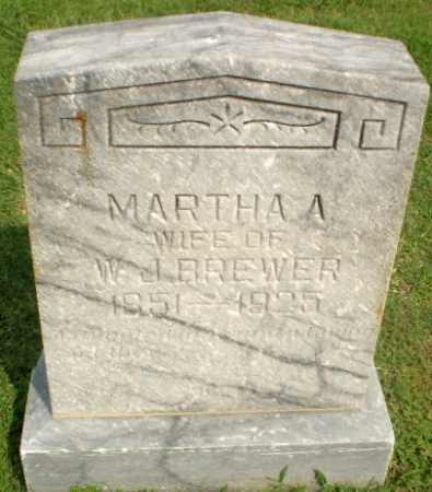 BREWER, MARTHA A - Greene County, Arkansas | MARTHA A BREWER - Arkansas Gravestone Photos
